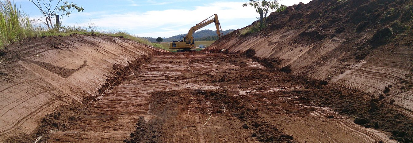Maslen Contractors, Dam Construction, Roadworks, Mallanganee, Casino NSW, Bruxner Highway, Sand and Gravel Supply